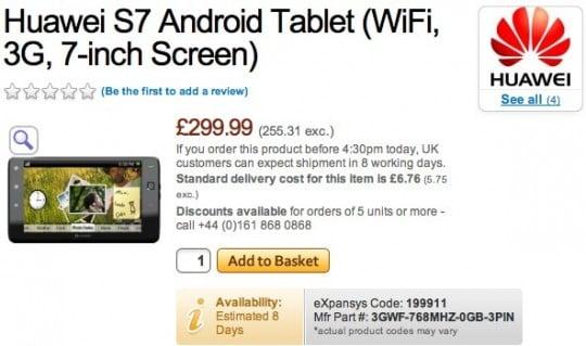 Tabletowo.pl Huawei S7 - ruszyła przedsprzedaż tabletu za 300 funtów Chińskie Nowości