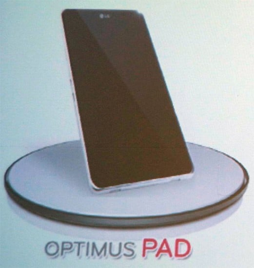 Tabletowo.pl Tablet LG będzie się nazywać Optimus Pad (pierwsze zdjęcie modelu) Nowości Plotki / Przecieki