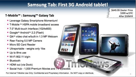 Samsung Galaxy Tab w T-Mobile