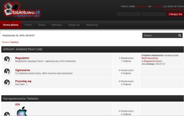 Tabletowo.pl Tabletowo otwiera pierwsze w Polsce forum o tabletach internetowych Nowości