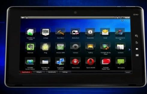Tabletowo.pl Toshiba Folio 100 na promocyjnych wideo Nowości Toshiba