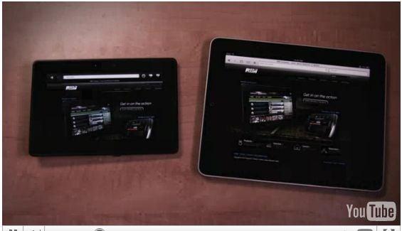 Tabletowo.pl Apple iPad kontra BlackBerry PlayBook (wideo) Nowości Porównania