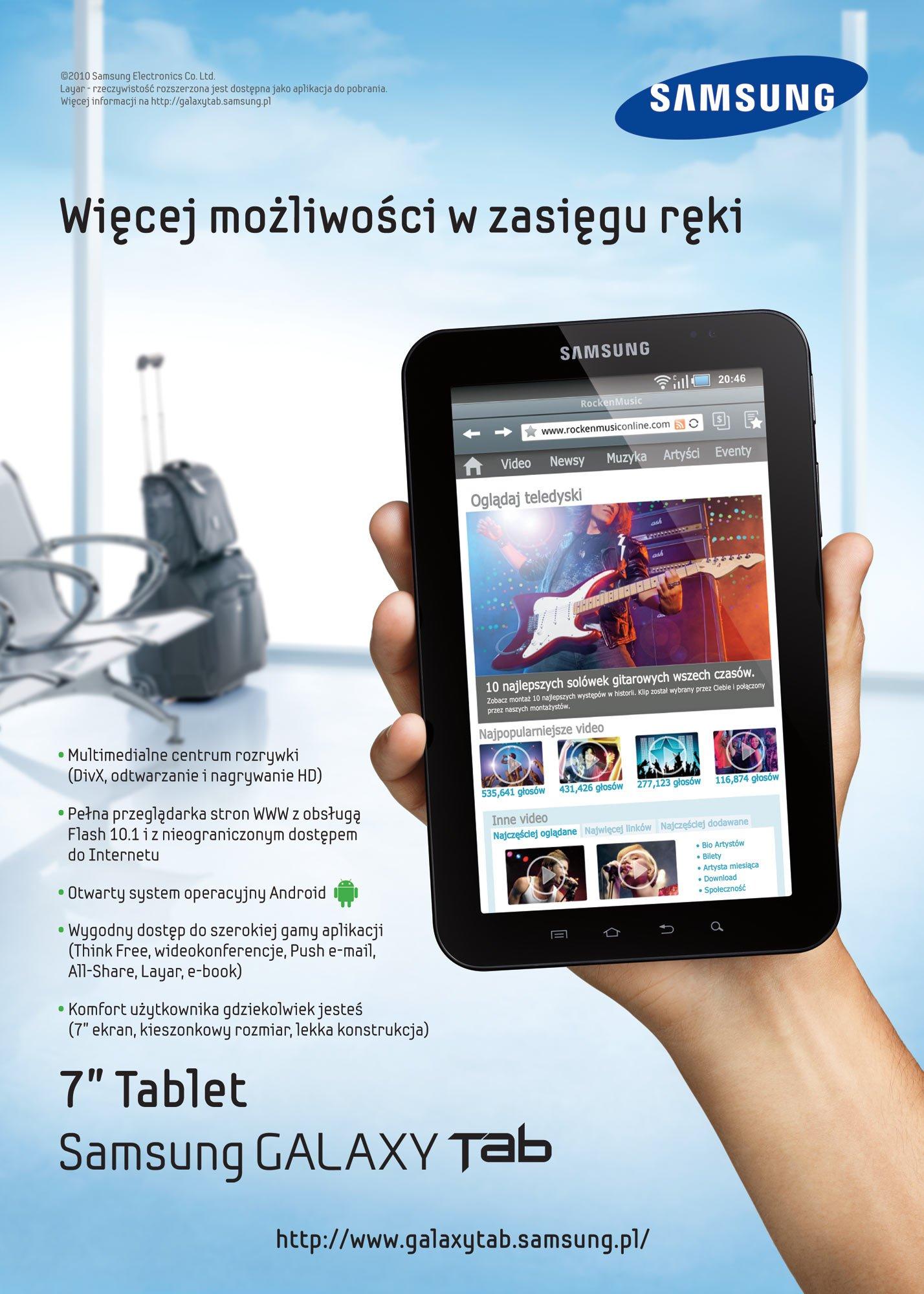 Tabletowo.pl Samsung Galaxy Tab - ruszyła kampania reklamowa (wideo) Nowości Samsung