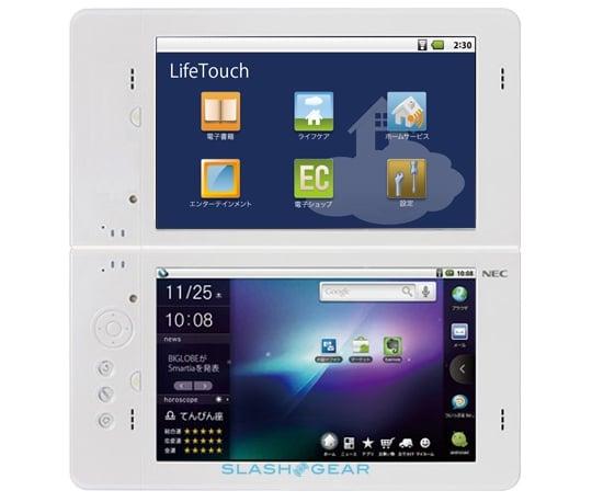 Tabletowo.pl Dwuekranowy tablet NEC LifeTouch z Androidem na targach CES 2011 Nowości Plotki / Przecieki