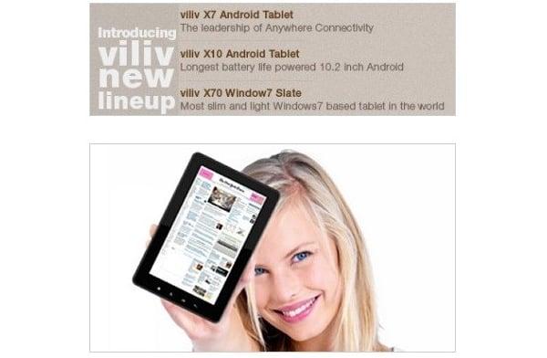 Tabletowo.pl Trzy tablety od Viliv: X7, X10 i X70 na CES 2011 Nowości