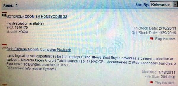 Tabletowo.pl Best Buy: Motorola Xoom już 17 lutego. Cena? 700 dolarów Motorola Nowości Plotki / Przecieki