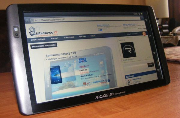 tablet archos 101 internet tablet