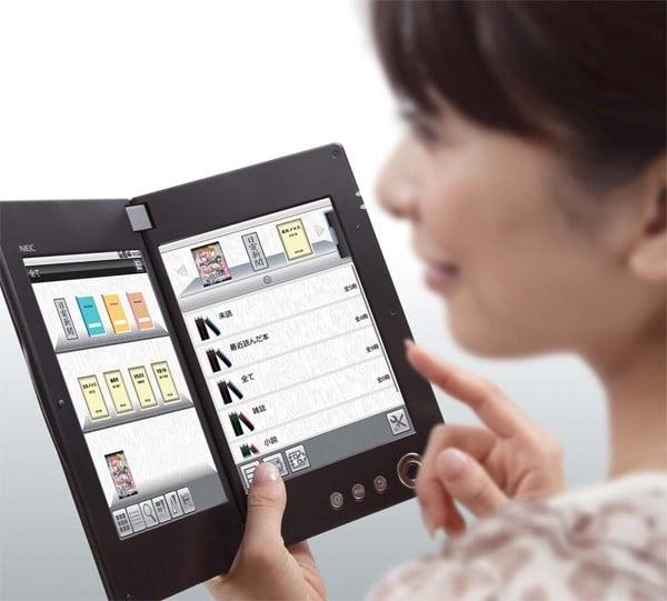 Tabletowo.pl Dwuekranowy tablet NEC LifeTouch LT-W Cloud Communicator Nowości