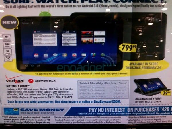 Tabletowo.pl Best Buy: Motorola Xoom już w przedsprzedaży (za 800$) Motorola Nowości Plotki / Przecieki
