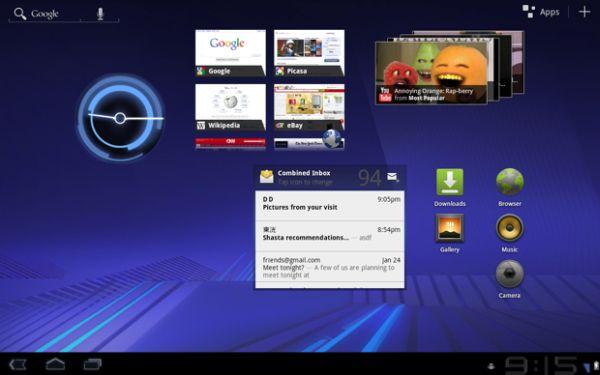 Tabletowo.pl Android Honeycomb. Wideo z konferencji i systemowe szczegóły Ciekawostki Nowości