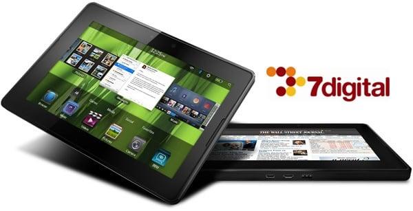 Tabletowo.pl BlackBerry Playbook z dostępem do sklepu muzycznego 7digital Ciekawostki Nowości