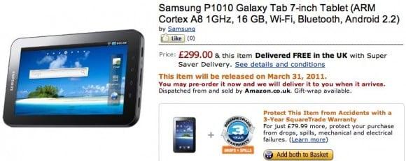 Tabletowo.pl Samsung Galaxy Tab bez 3G na dniach w sprzedaży Nowości Samsung