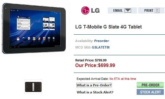 Tabletowo.pl Cena LG Optimus Pad w przedsprzedaży to 700 dolarów LG Nowości