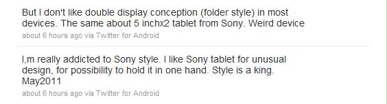 Z pierwszej ręki: Sony Ericsson nie planuje tabletu, to działka Sony 21