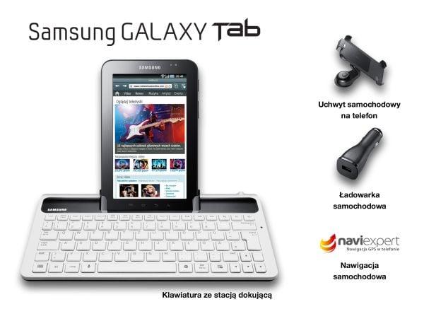 Tabletowo.pl Samsung Galaxy Tab w zestawie z klawiaturą i samochodowymi gadżetami Akcesoria Nowości Samsung