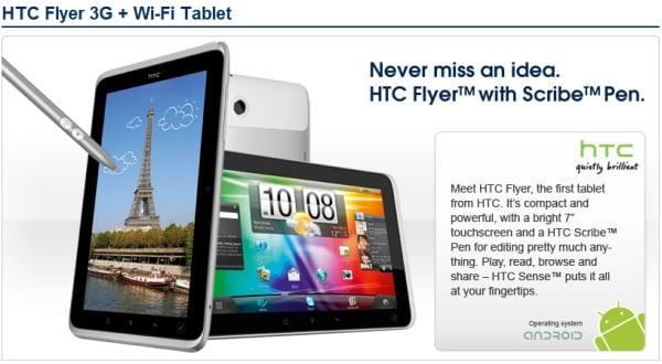 Tabletowo.pl Cena HTC Flyer - potwierdza się koszmar Nowości Plotki / Przecieki