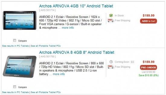Tabletowo.pl Tablety Archos Arnova dostępne w przedsprzedaży Nowości