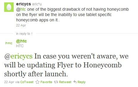 Tabletowo.pl Aktualizacja HTC Flyer do Honeycomb zaraz po rynkowej premierze Nowości