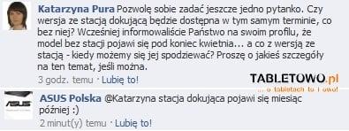 Tabletowo.pl Cena Asusa Eee Pad Transformer w Polsce to 1899 złotych (update) Nowości