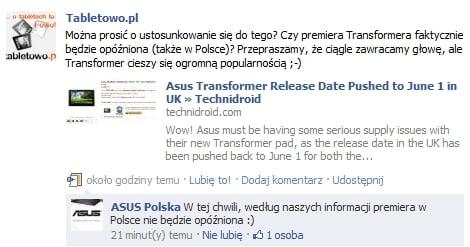 Tabletowo.pl Asus Eee Pad Transformer na rynku z opóźnieniem? (update: nie w Polsce!) Nowości Plotki / Przecieki