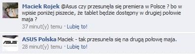 Tabletowo.pl Polska premiera Asusa Eee Pad Transformer przesunięta Nowości