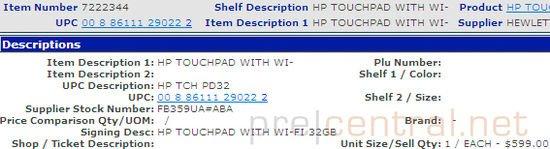 Tabletowo.pl Znamy oficjalną cenę HP TouchPad: 599$ za 32GB WiFi Nowości Plotki / Przecieki