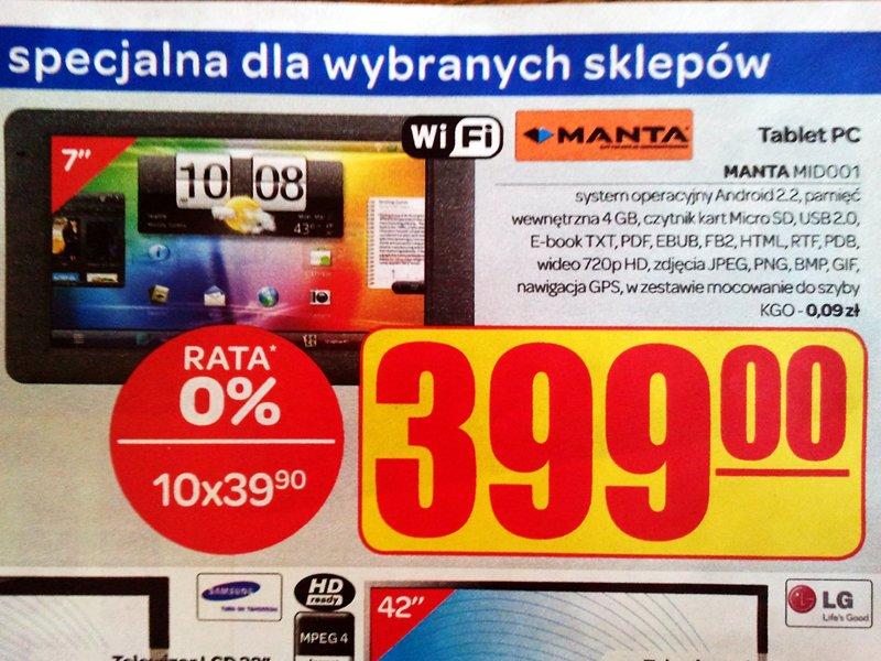 Tabletowo.pl OBIEKTYWnie: Tablet Manty z interfejsem z HTC Flyer? Ciekawostki Humor