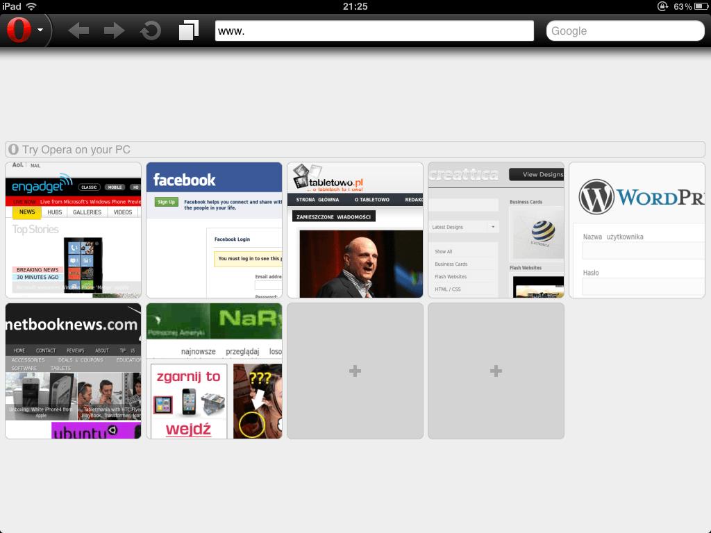 Tabletowo.pl Środy z AppStore: Opera Mini Aplikacje Apple Nowości