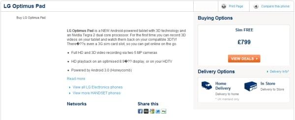 Tabletowo.pl LG Optimus Pad - zagadka cenowa trwa, ale i tak będzie drogo LG Nowości