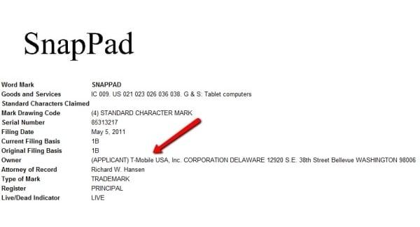 Tabletowo.pl SnapPad - tablet dla T-Mobile? W sprzedaży także w Polsce? Nowości Plotki / Przecieki