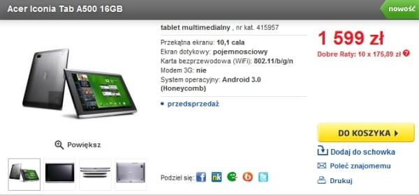 Tabletowo.pl Tablety z Honeycomb - jakie modele można kupić w Polsce? Nowości