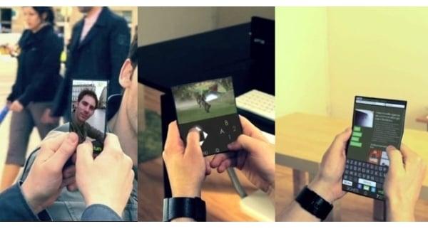Tabletowo.pl Flexphone - telefon, konsola i tablet w jednym Koncepcje Nowości
