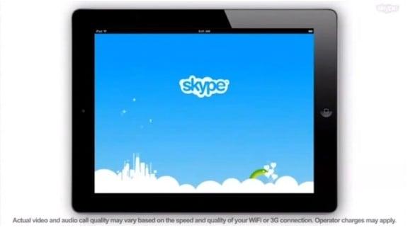 Tabletowo.pl Skype na iPada wyciekł do sieci... na promocyjnym wideo Aplikacje Apple Nowości Plotki / Przecieki