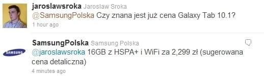 Tabletowo.pl Cena Samsunga Galaxy Tab 10.1 z 3G w Polsce to...? Nowości Samsung