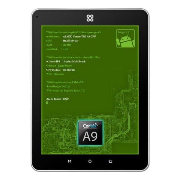 Tabletowo.pl SmartQ 10: ARM Cortex A-9, Mali-400 GPU i Android 2.2 Chińskie Nowości