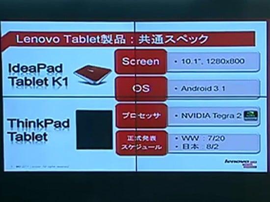 Tabletowo.pl Sprzedaż Lenovo IdeaPad K1 i ThinkPad rozpocznie się jutro Nowości