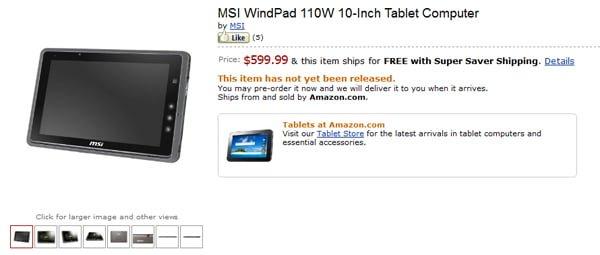Tabletowo.pl MSI WindPad 110W w przedsprzedaży Nowości