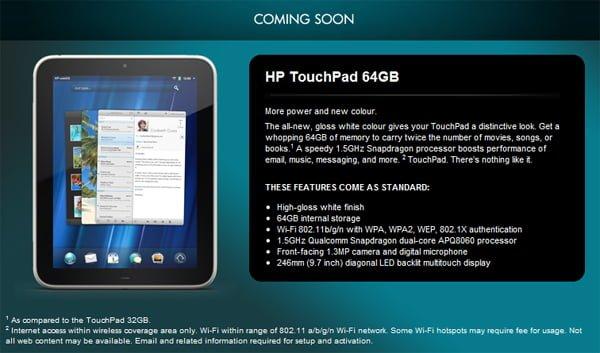 Tabletowo.pl Biały HP TouchPad 64GB 1.5GHz w Europie Nowości