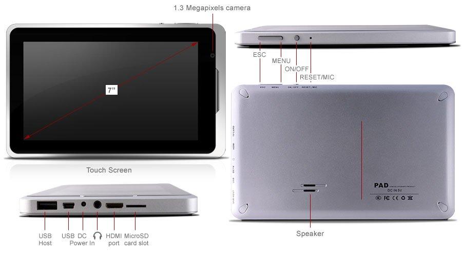 Tabletowo.pl X10 AirPad: Android 2.3, 1.2GHz i HDMI za 200$ Nowości