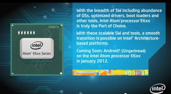 Tabletowo.pl Android Gingerbread dla Intel Atom na początku 2012 roku Nowości