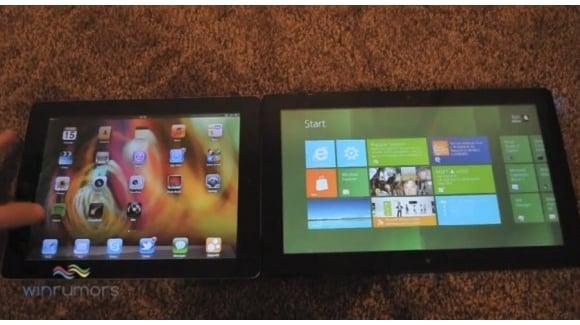 Tabletowo.pl iPad 2 z iOS 5 kontra tablet z Windows 8 - wideo Ciekawostki Nowości Porównania
