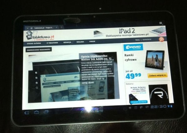 tablet motorola xoom android