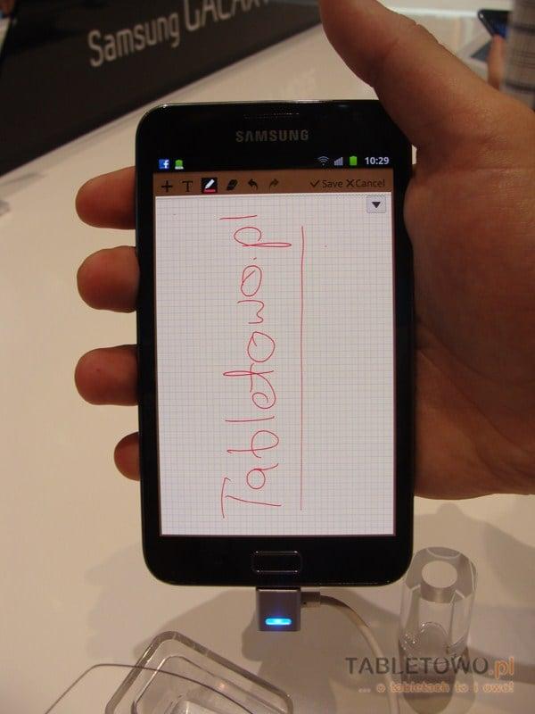 Samsung Galaxy Note w rękach Tabletowo.pl na IFA 2011 (wideo)