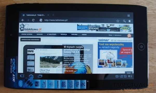 tablet acer iconia tab a100