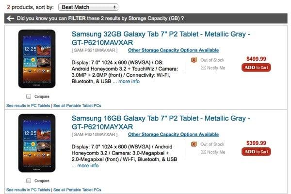 Tabletowo.pl Samsung Galaxy Tab 7.0 Plus nieoficjalnie wyceniony w Stanach Nowości Plotki / Przecieki Samsung