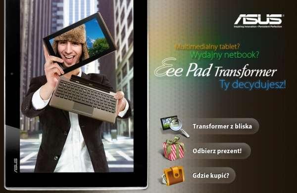 """Tabletowo.pl Asus promuje Eee Pad Transformer akcją """"Ty decydujesz"""" Ciekawostki Nowości"""