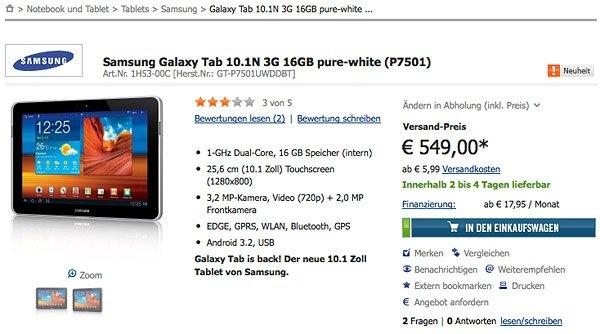 Tabletowo.pl Samsung wypuszcza na niemiecki rynek zmieniony tablet - Galaxy Tab 10.1N Apple Ciekawostki Nowości Samsung