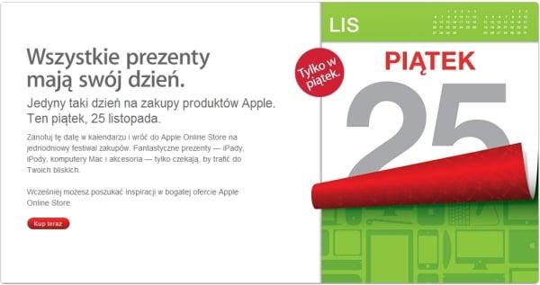 """Tabletowo.pl """"Wszystkie prezenty mają swój dzień"""" - 25 listopada w Apple Online Store Apple Ciekawostki Nowości"""
