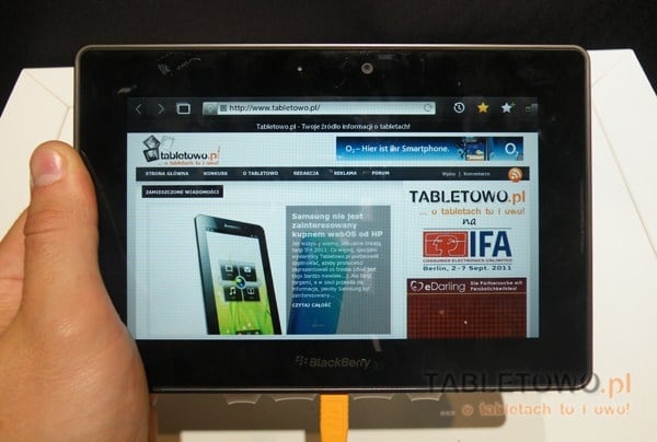 Tabletowo.pl Ważna aktualizacja dla tabletów BlackBerry Playbook w 2012. Co w niej będzie? Nowości