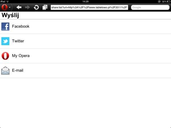 Tabletowo.pl Opera Mini 6.5 dla iPada czyli update goniący Androida Aplikacje Apple Nowości